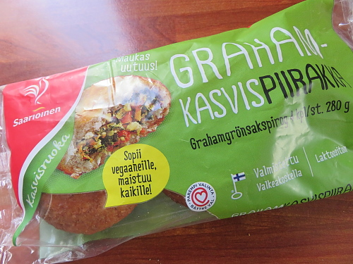 フィンランド Kasvispiirakka 野菜入り揚げパン