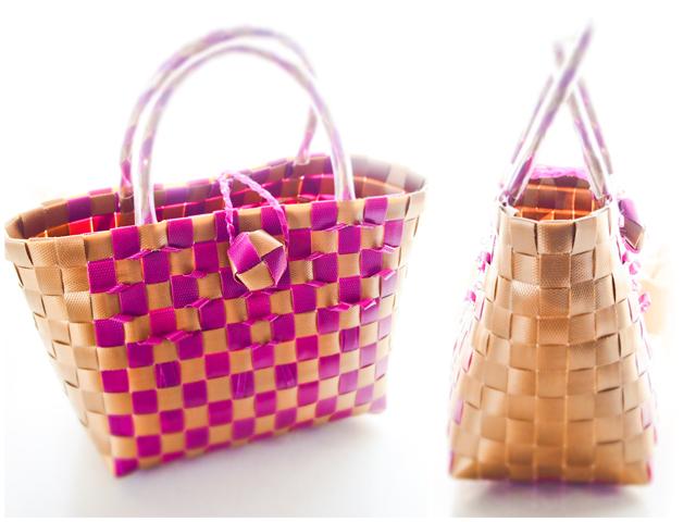 ベトナムのプラカゴの作り方基本のバッグ