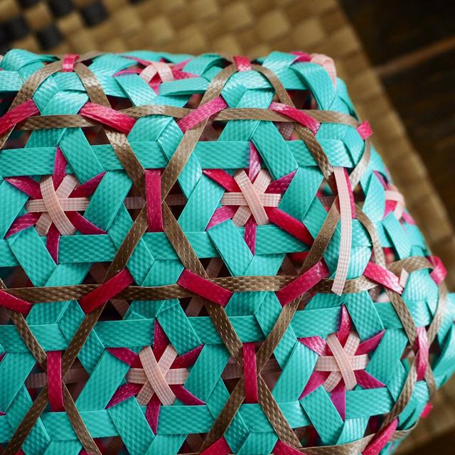 花まる編みのプラカゴの作り方