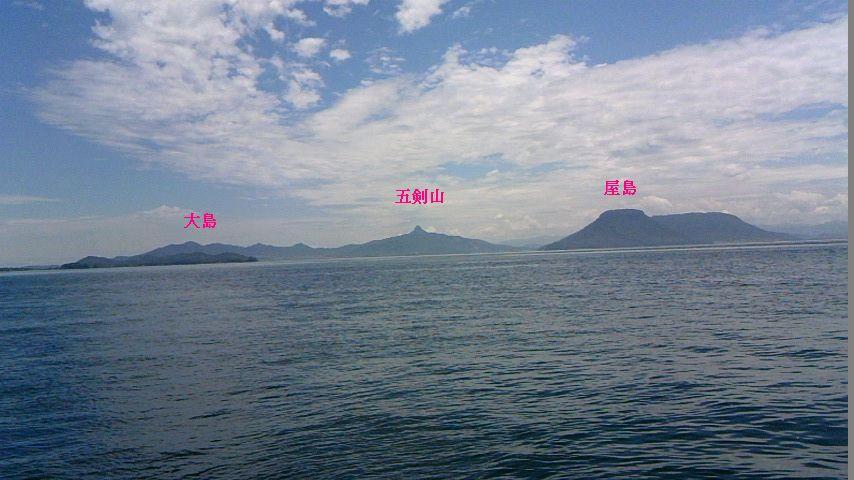 男木島から高松を望む