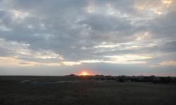 バルーンと日の出
