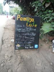 パモジャカフェの看板
