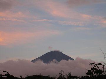 夕方富士山