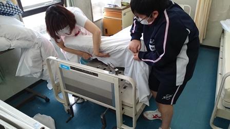 病棟1シーツ交換①(ブログアップ)