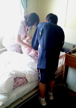 病棟2患者さん検温(ブログアップ)