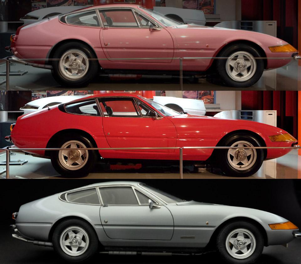 4628 フェラーリ デイトナ 模型と比較2 960×840