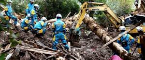 熊本地震での救助作業