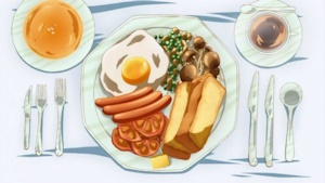 豪華な朝食