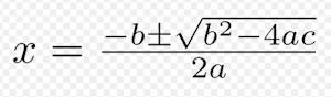 二次方程式解の公式