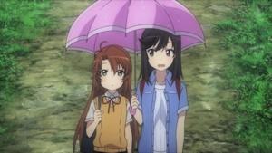 小鞠と相合い傘