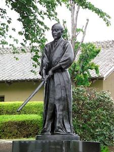 上泉伊勢守の銅像