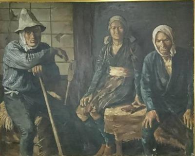 川上律江 農夫の家族