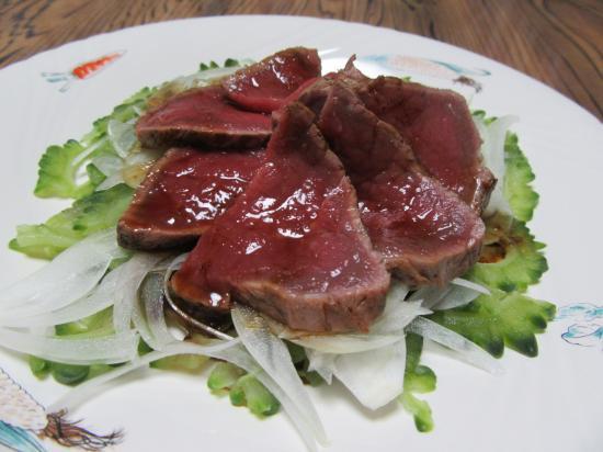 牛肉とゴーヤde中華サラダ