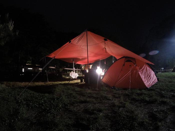 能生0515_夜のテントとランタン