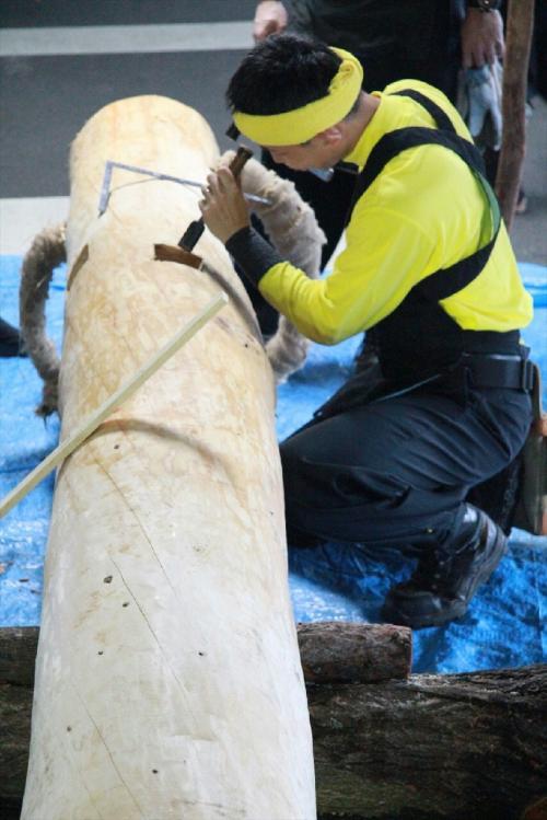 木造り0709_ノミ加工