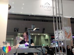 ジェルでつくるスノードームネイルアート 東京ネイルエキスポ2015ステージデモ準備中 増田典子