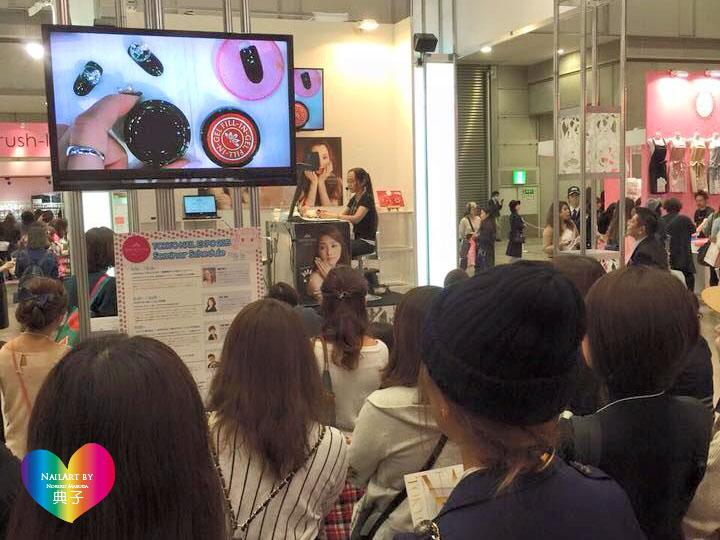 ジェルでつくるスノードームネイルアート 東京ネイルエキスポ2015ステージデモ中3 増田典子