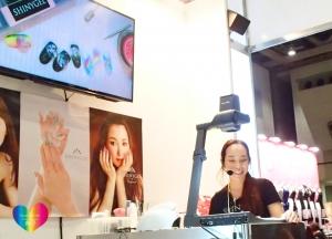 ジェルでつくるスノードームネイルアート 東京ネイルエキスポ2015ステージデモ中7 増田典子