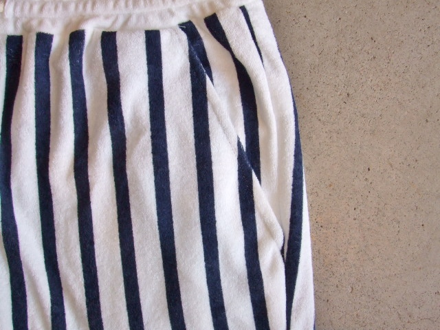 NORULE Stripe Pile shorts white2