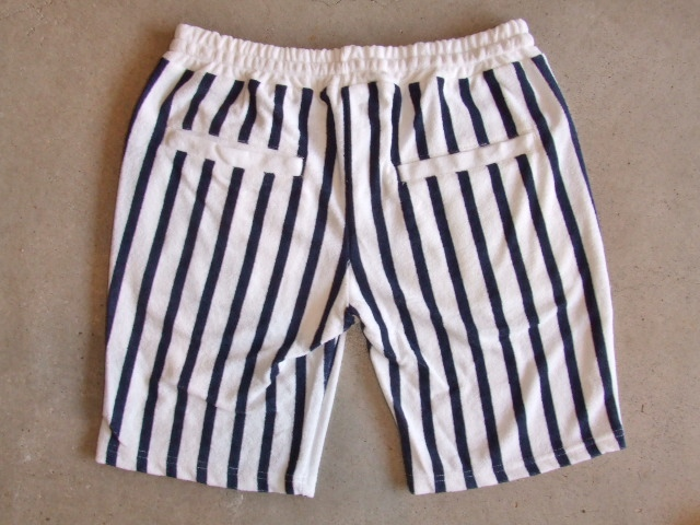 NORULE Stripe Pile shorts white4