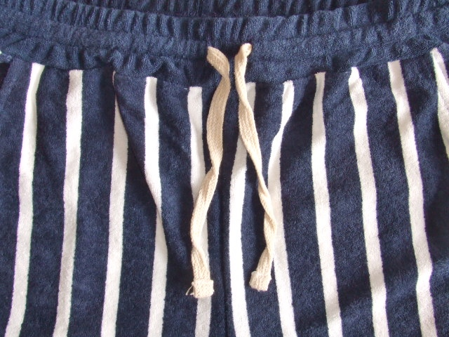 NORULE Stripe Pile shorts navy1
