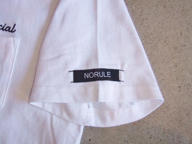 NORULE poket tee white3