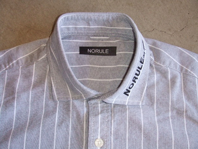 NORULE Stripe shirt navy1