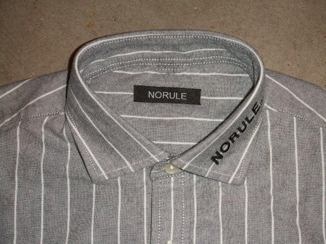 NORULE Stripe shirt black1