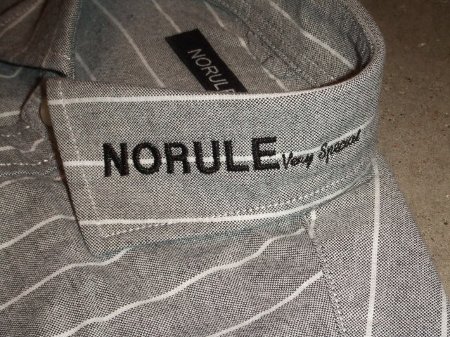 NORULE Stripe shirt black2
