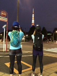 帰宅ラン東京タワー