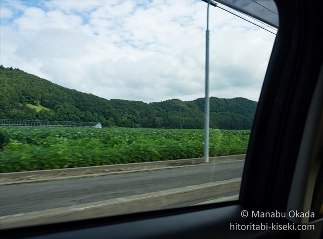 道道116号線における車窓風景