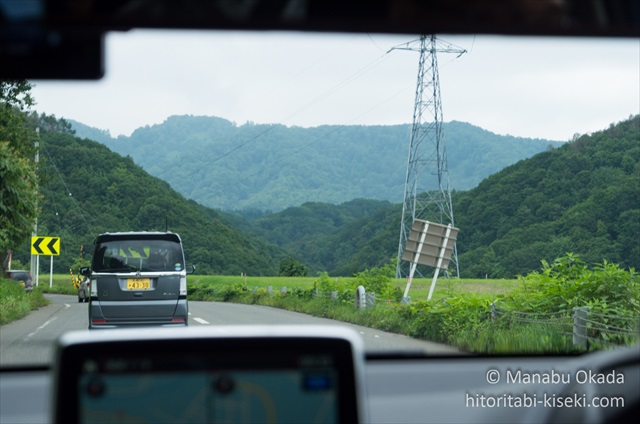 三笠における山間