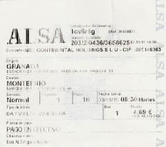 billete de Granada a Montefrio