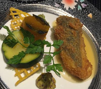 くのさと白身魚のフルーツソース