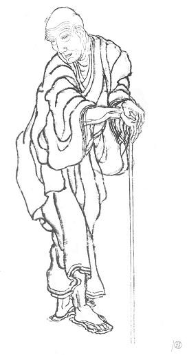 葛飾北斎 自画像 天保10年(1839年)頃