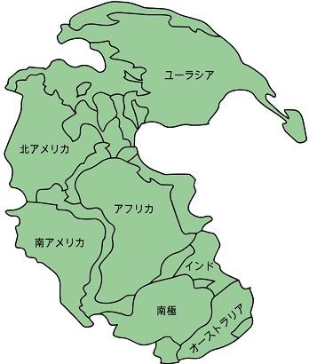 パンゲア大陸の分裂