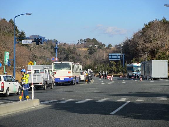 福島第一原子力発電所事故による警戒区域の検問所(福島県楢葉町)