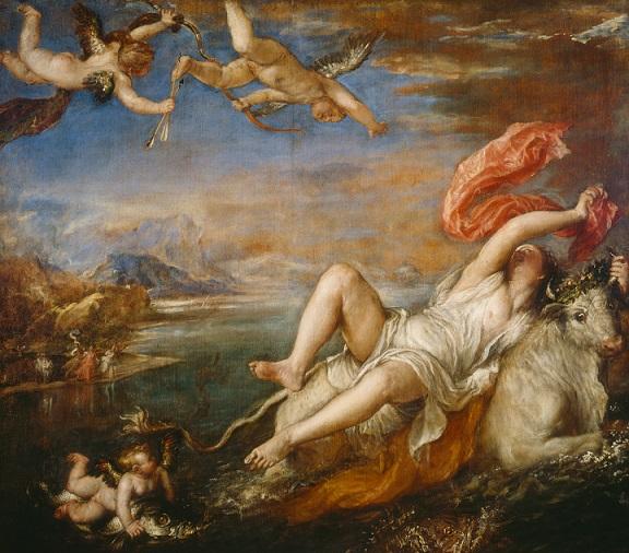 ティツィアーノ・ヴェチェッリオ画『エウロパの誘拐』