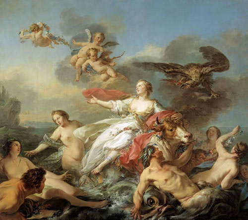 The Rape of Europa by Jean-Baptiste Marie Pierre (1750)