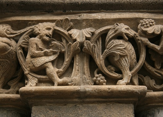 Carving from Maria Laach Abbey, in the Eifel, Rhineland