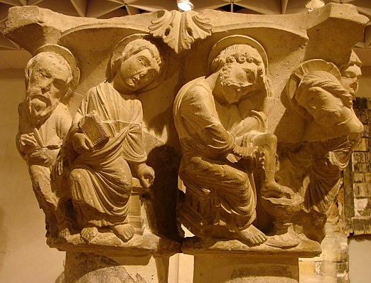 This capital of Christ washing the feet of his Apostles has strong narrative qualities in the interaction of the figures