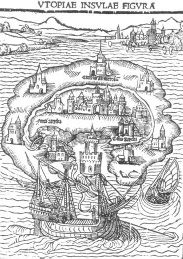 1516年初版の『ユートピア』の挿絵
