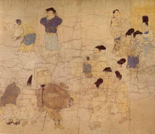 伴大納言絵詞に描かれた、院政期の庶民の服装