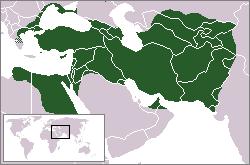 アケメネス朝の版図 紀元前500年時点