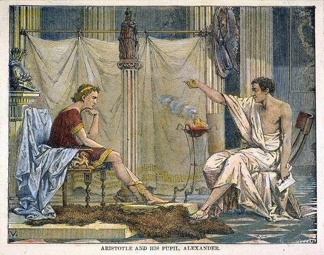 アリストテレスの講義を受けるアレクサンドロス