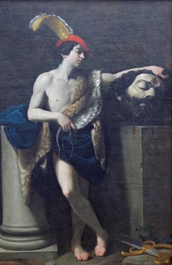 グイド・レーニ『ゴリアテの首を持つダビデ』ウフィツィ美術館 1604年頃