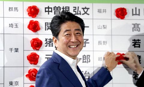 安倍総理 圧勝 1