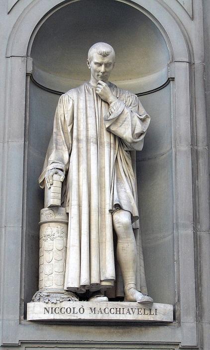 ウフィツィ美術館にあるマキャヴェッリ像