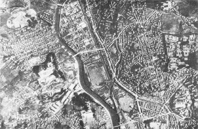 原爆投下前の爆心地付近(長崎市浦上地区)