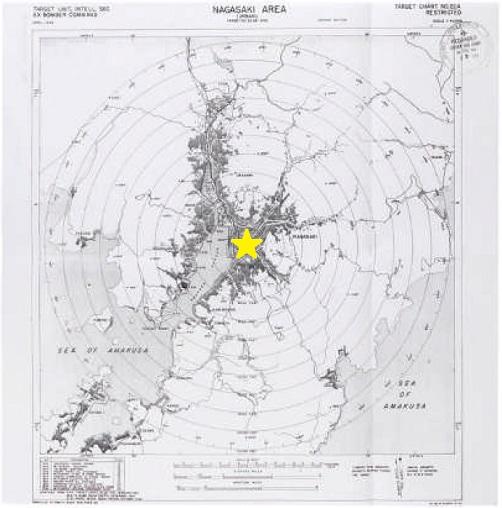 爆撃目標地図 (1945年4月作成)